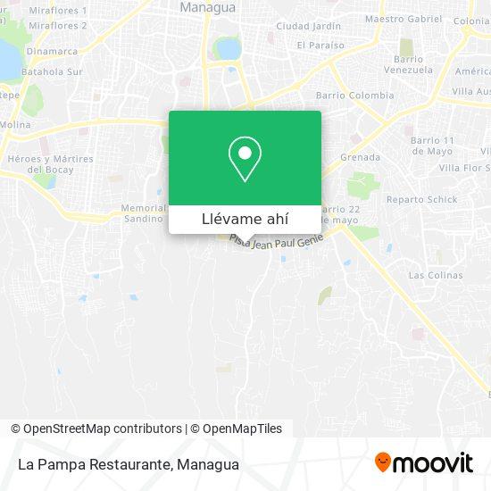 Mapa de La Pampa Restaurante