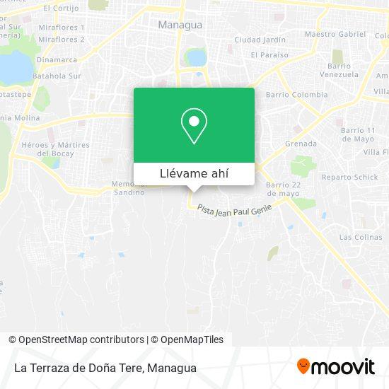 Mapa de La Terraza de Doña Tere