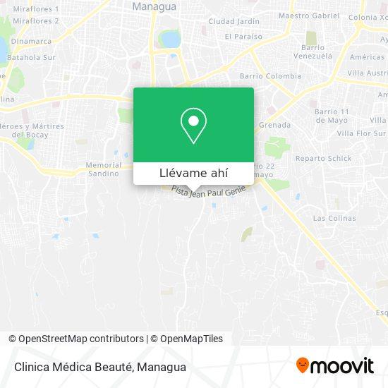 Mapa de Clinica Médica Beauté