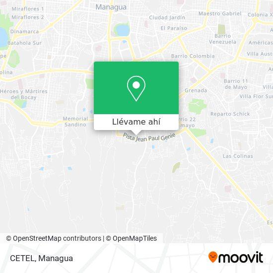Mapa de CETEL