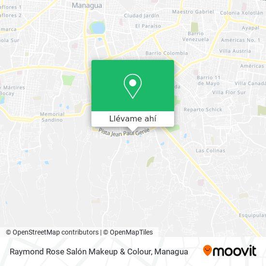 Mapa de Raymond Rose Salón Makeup &  Colour