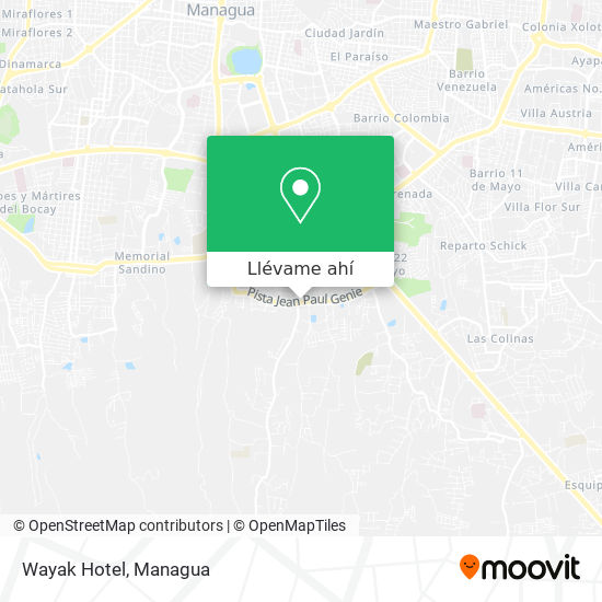 Mapa de Wayak Hotel