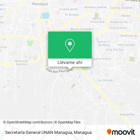 Mapa de Secretaria General UNAN Managua