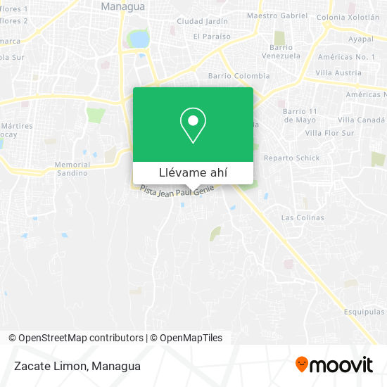 Mapa de Zacate Limon