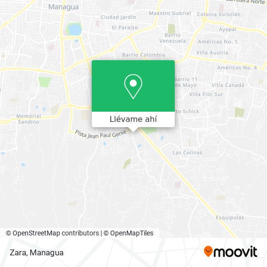 Mapa de Zara