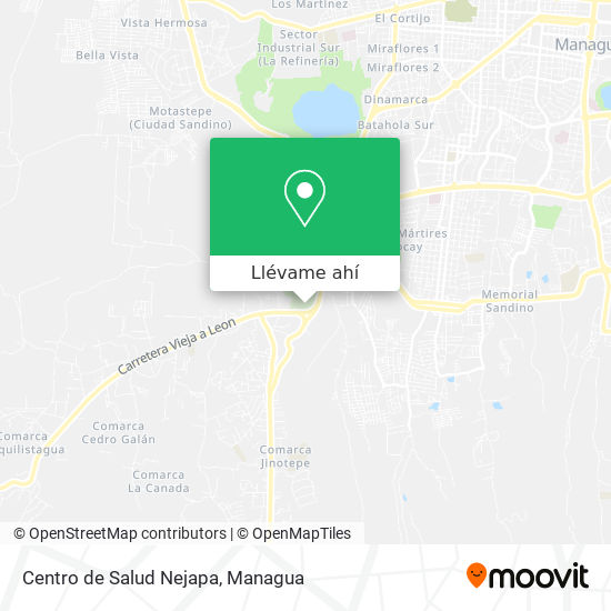 Mapa de Centro de Salud Nejapa