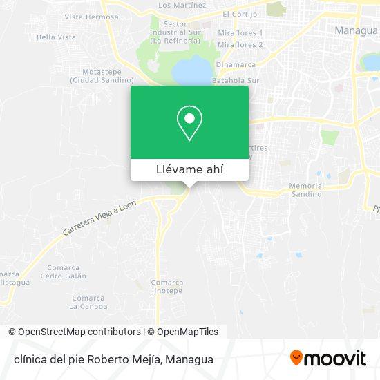 Mapa de clínica del pie Roberto Mejía