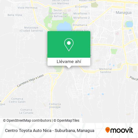 Mapa de Centro Toyota Auto Nica - Suburbana