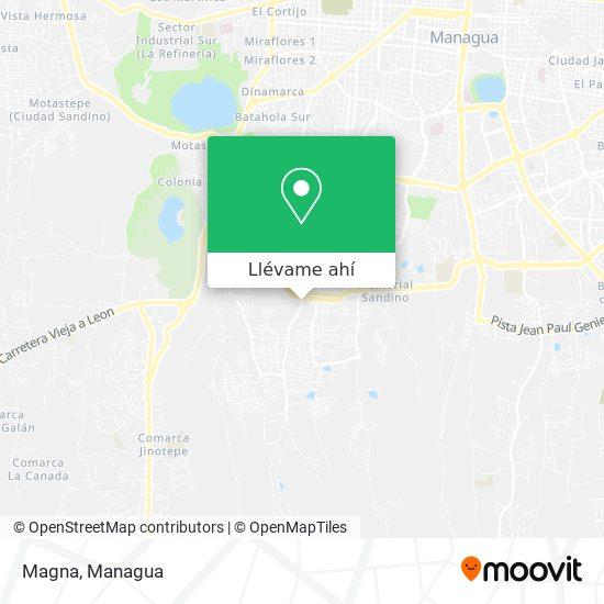 Mapa de Magna