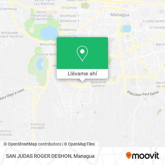 Mapa de SAN JUDAS ROGER DESHON