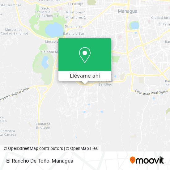 Mapa de El Rancho De Toño