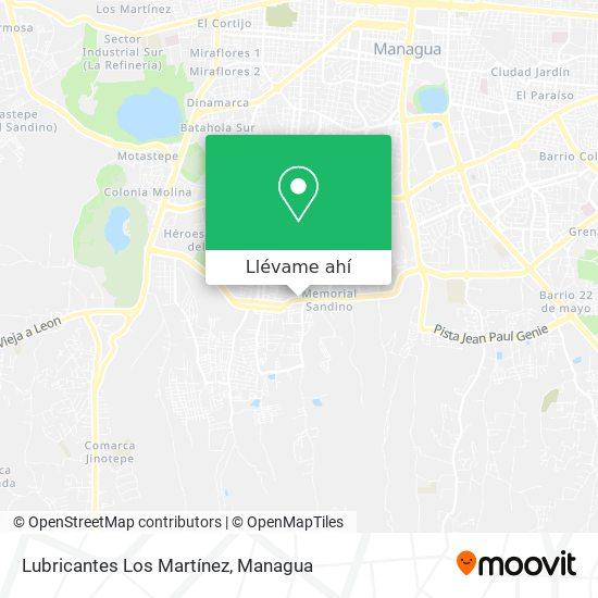 Mapa de Lubricantes Los Martínez