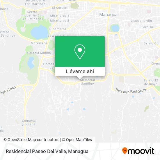 Mapa de Residencial Paseo Del Valle