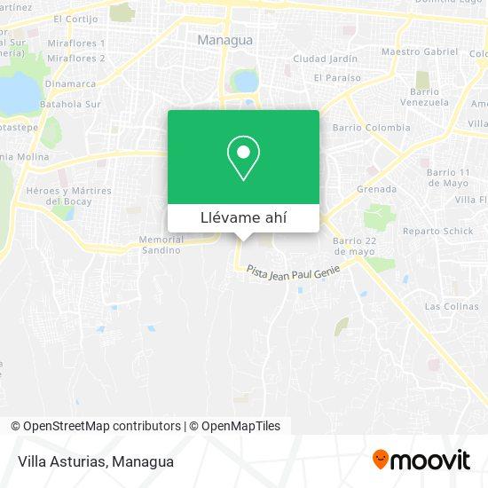 Mapa de Villa Asturias