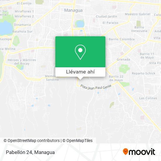 Mapa de Pabellón 24