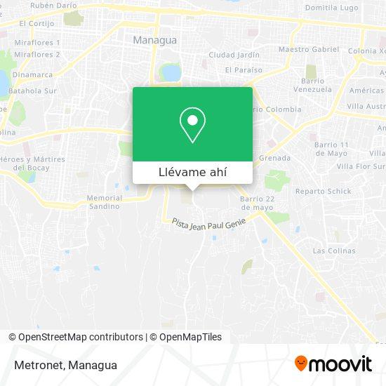 Mapa de Metronet