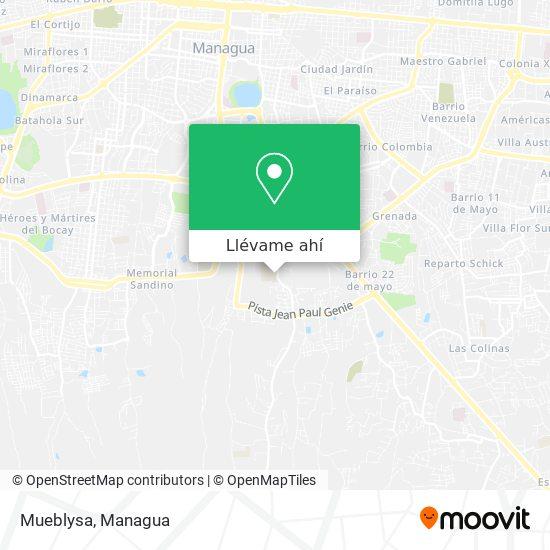 Mapa de Mueblysa