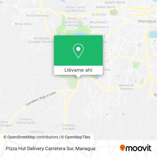 Mapa de Pizza Hut Delivery Carretera Sur
