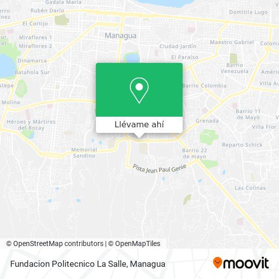 Mapa de Fundacion Politecnico La Salle