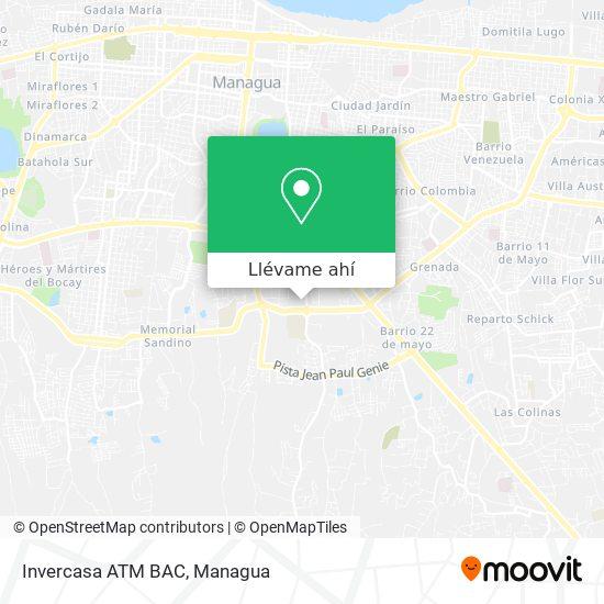 Mapa de Invercasa ATM BAC