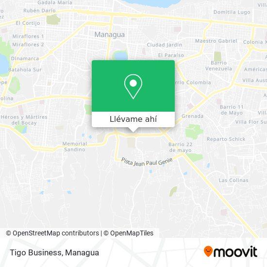 Mapa de Tigo Business