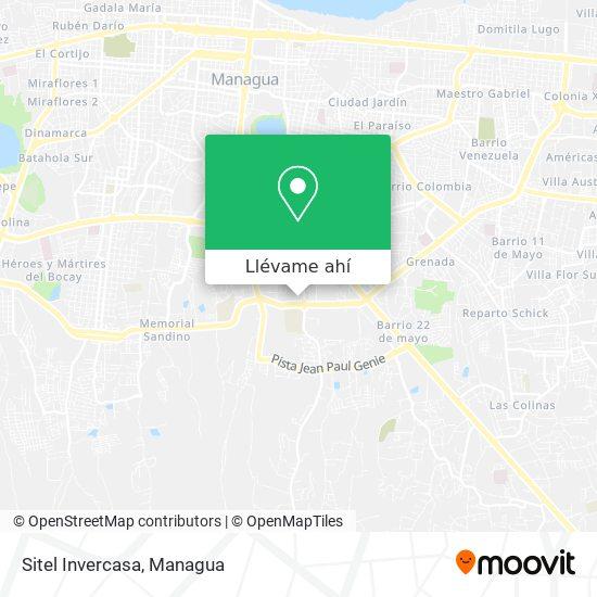 Mapa de Sitel Invercasa