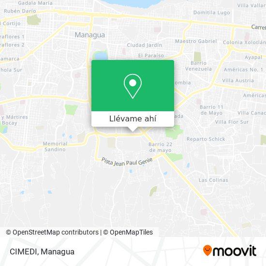 Mapa de CIMEDI