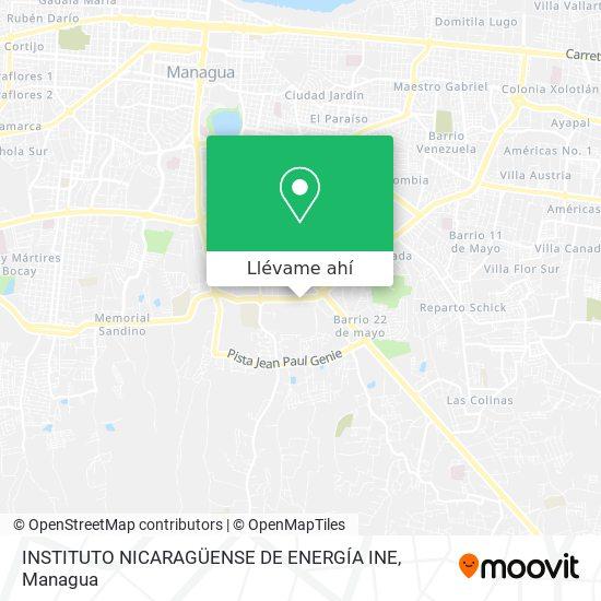 Mapa de INSTITUTO NICARAGÜENSE DE ENERGÍA INE