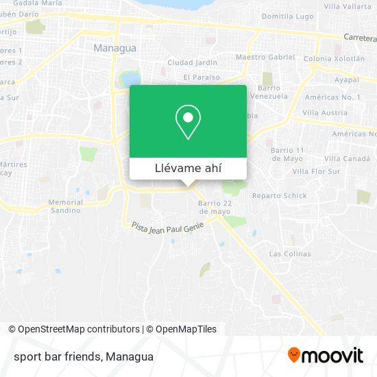 Mapa de sport bar friends