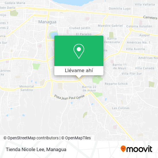 Mapa de Tienda Nicole Lee