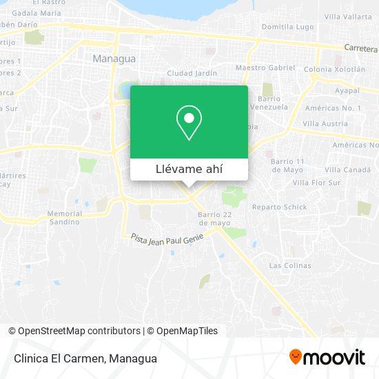 Mapa de Clinica El Carmen