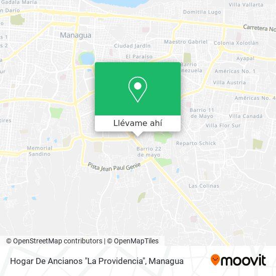 """Mapa de Hogar De Ancianos """"La Providencia"""""""