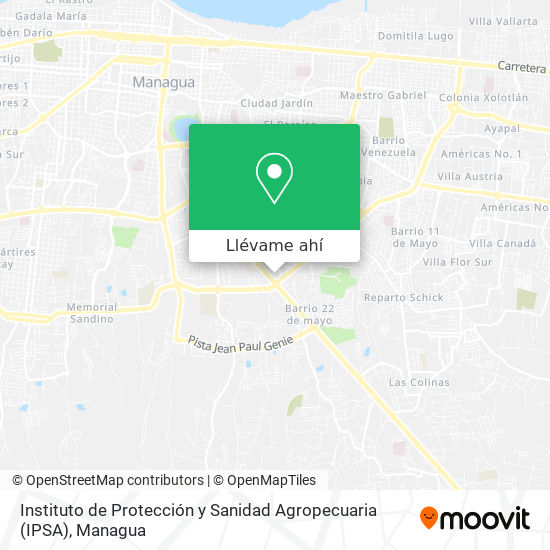 Mapa de Instituto de Protección y Sanidad Agropecuaria (IPSA)