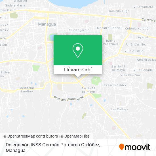 Mapa de Delegación INSS Germán Pomares Ordóñez