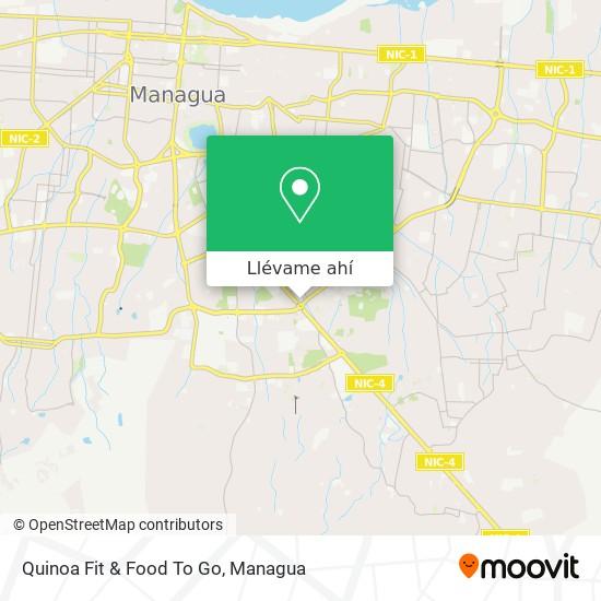 Mapa de Quinoa Fit & Food To Go