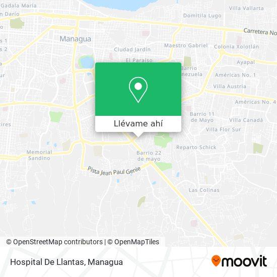 Mapa de Hospital De Llantas