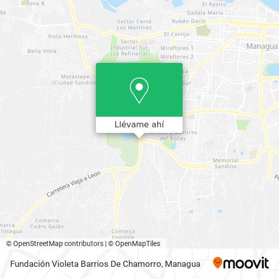 Mapa de Fundación Violeta Barrios De Chamorro
