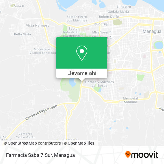 Mapa de Farmacia Saba 7 Sur