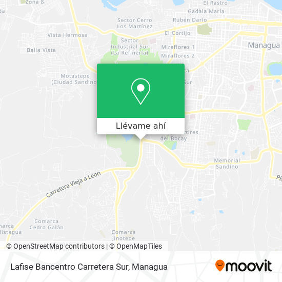 Mapa de Lafise Bancentro Carretera Sur