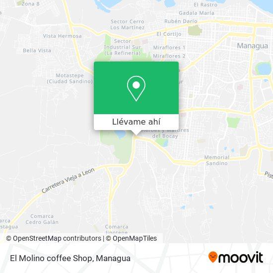 Mapa de El Molino coffee Shop