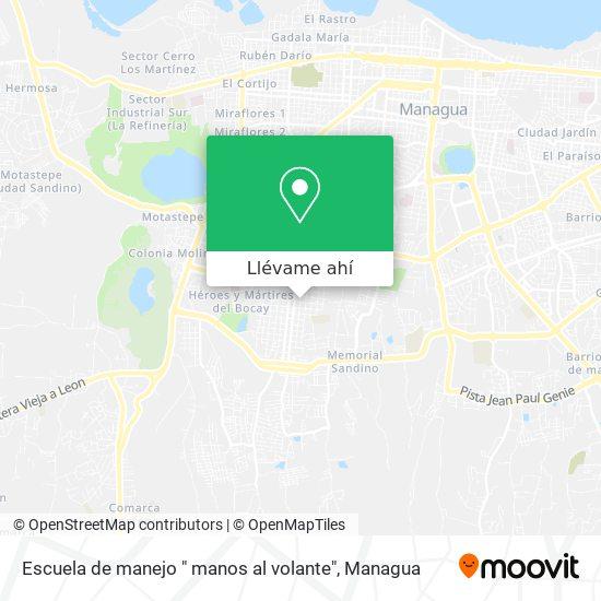 """Mapa de Escuela de manejo """" manos al volante"""""""