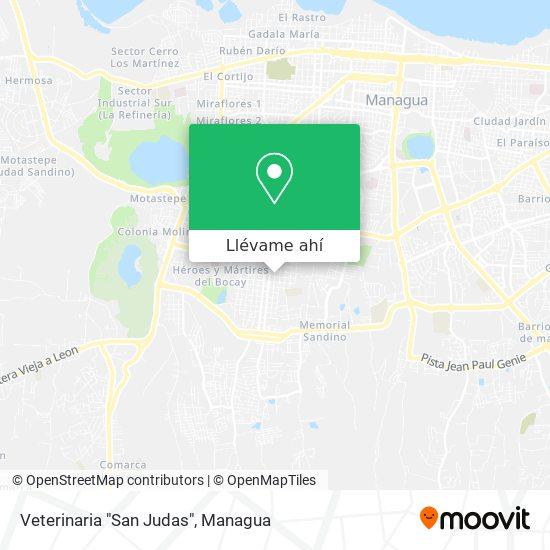 """Mapa de Veterinaria """"San Judas"""""""