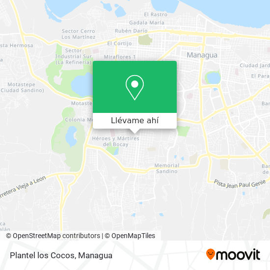 Mapa de Plantel los Cocos