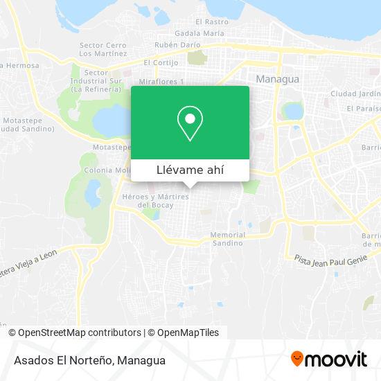 Mapa de Asados El Norteño
