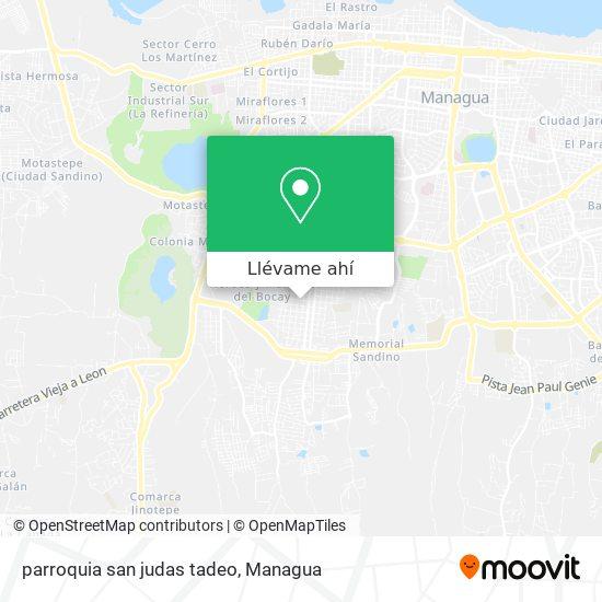 Mapa de parroquia san judas tadeo