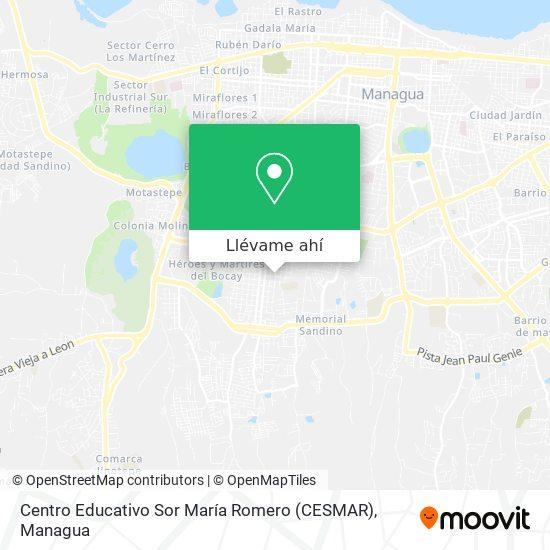 Mapa de Centro Educativo Sor María Romero (CESMAR)
