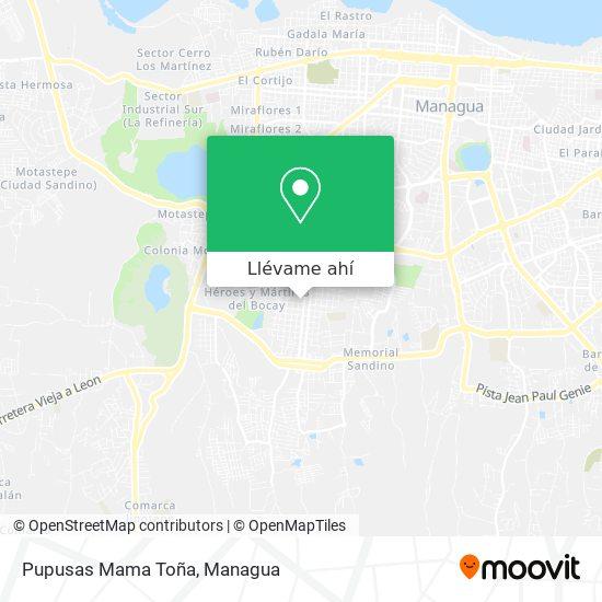 Mapa de Pupusas Mama Toña