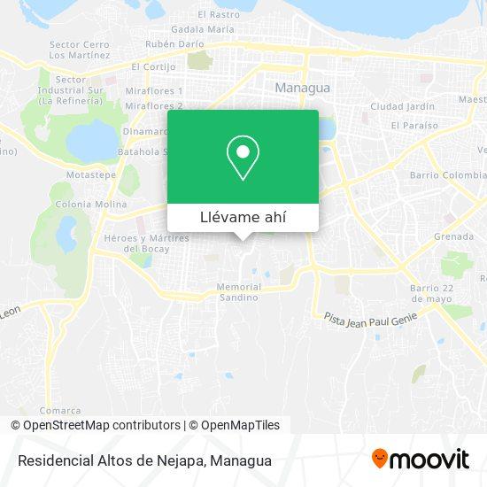 Mapa de Residencial Altos de Nejapa