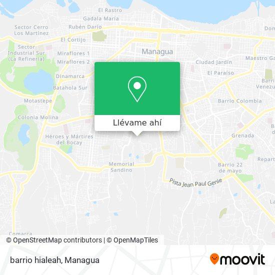 Mapa de barrio hialeah