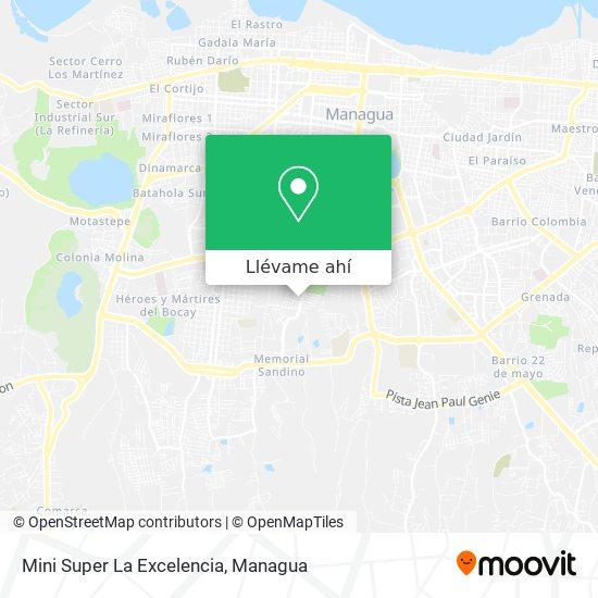 Mapa de Mini Super La Excelencia
